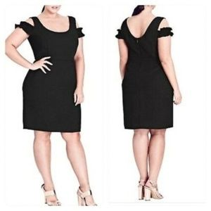 NWT City Chic Cute Frill Black Dress